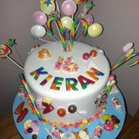 Sweety Themed Cake With Rainbow Inside *