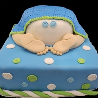 Boy Baby Shower Cake Baby Bottom See more at www.circospastryshop.com