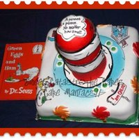 Dr. Seuss Cake All art work done free hand with food colour inks :)