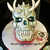 Demon Skull Cake All accessories molded from fondant and gum paste