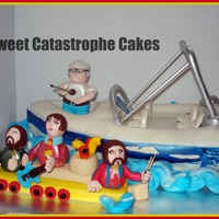 Beatles Yellow Submarine/fishing Boat Cake