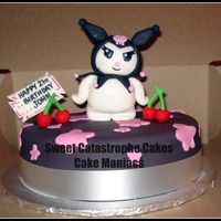 Hello Kitty Kuromi Cake