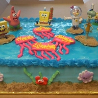 Sponge Bob & Friends Birthday Cake