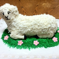 Lamb   3D lamb cake. Perfect for an Easter celebration.