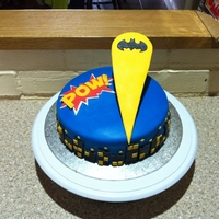 Batman Cake i made this for my brothers 9th birthday.
