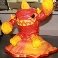 This Was A Cake Made For An 11 Year Old Boy Whose Favourite Computer Game Is Skylanders This Is One Of The Characters From The Game The E This was a cake made for an 11 year old boy whose favourite computer game is Skylanders. This is one of the characters from the game, the...