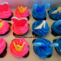 Sleeping Beauty And Cinderella Inspired Cupcakes
