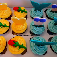 Belle And Ariel Inspired Cupcakes