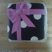 Present Cake :) chocolate and coffee cake with fondant decorations:):)