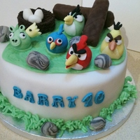 Angry Birds Birthday Cake First ever Angry Birds Cake that i have made..
