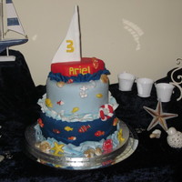 The Magical Underwater World! The magical underwater world cake accented with glitter for a magical touch!