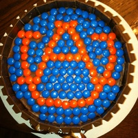 Auburn Candy Cake This cake was inspired by MrsPound. It is a chocolate cake with chocolate fudge frosting. Covered in Kit Kats and the Auburn logo is made...