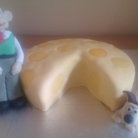 Wallace & Gromit Cake A Pineapple and cherry cake covered in marzipan and fondant, with marzipan and fondant figures