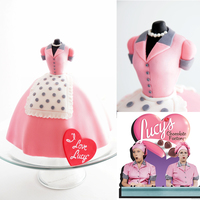 I Love Lucy Inspired 60Th Birthday Cake The Dress Was Modelled After The One She Wore For The Chocolate Factory Episode If You Have Never I Love Lucy inspired 60th birthday cake. The dress was modelled after the one she wore for the Chocolate Factory episode. If you have never...