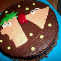 My Nephew's Phineas And Ferb Birthday Cake he's sooooo into Phineas and Ferb, so i made one for him on his birthday! =)
