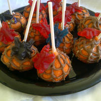 Halloween Cake Pops - Spider Web Had a request for something spooky for a young man's Birthday/Halloween party. I found these spider gummies and thought these turned...