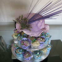 Kentucky Derby Bridal Shower Cake & Cupcakes
