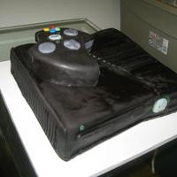 Xbox Cake This high gloss was due to steaming the cake