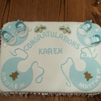 Final Baby Shower Cake For Twin Baby Boys Final- Baby Shower Cake for twin baby boys.