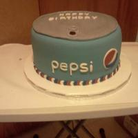 Pepsi Cake For The Husband Of A Friendco Workers Birthday Pepsi Cake for the husband of a friend/co-workers birthday.