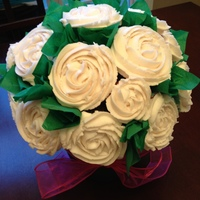 Buttercream Roses On Cupcake Bouquet buttercream roses on cupcakes