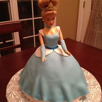 Cinderella Cake Cinderella cake made with wilton pan. Covered with fondant.