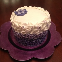 Purple Ombre Cake   Purple ombre made of fondant circles