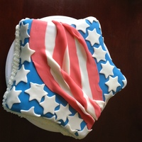 Stars And Stripes Stars and stripes cake made with fondant