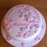 Pretty 70Th Birthday Cake I made this cake for my friends mums 70th Birthday in November 2011.