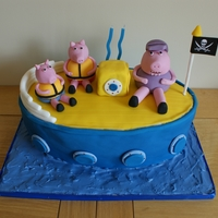Peppa Pig - Grandpa Pig's Boat I made this cake for my sons 2nd Birthday. He loves Peppa Pig, a brilliant children's program on the television in England.