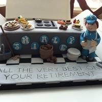 Dinner Lady Retirement Cake