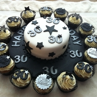 Male 30Th Black And Silver Theme