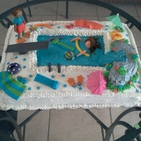 Pool Party Cake !!!