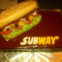 Subway Holiday Party Cake
