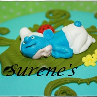 Baby Smurf Cake Topper