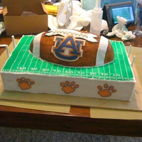University Of Auburn Anniversary Cake I made this for a co-worker who's father and step-mom were having their 50th wedding anniversary. They commissioned someone else to do...
