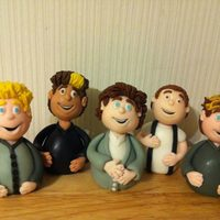 One Direction *one direction figures made for my neice's cake :)