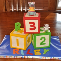 Toopy And Binoo Toopy and Binoo building block cake made for my nephew's 3rd birthday :)