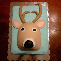 Deer Cake 2D deer on a sheet cake
