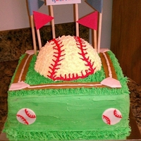 Baseball a stadium theme baseball cake