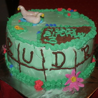 Fresh Cream Cake With Fondant Ducks And Flowers Fresh Cream Cake with Fondant Ducks and flowers