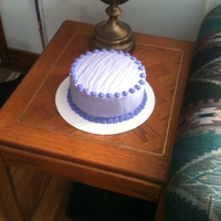 Pretty Purple  Red Velvet cake with Cream cheese frosting. Nothing too elaborate, but I think pleasing to the eye :) I do a cake every month for a senior...
