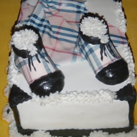 Burberry Shoes And Dress yellow cake with BC filling