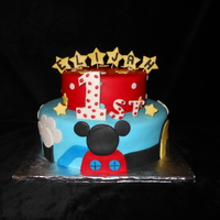 Mickey Mouse Club House First Birthday Cake Mickey Mouse club house first birthday cake.