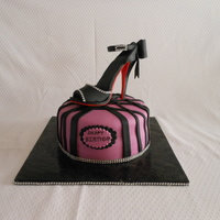 Red Bottomshoe Purple And Black Bling Cake Red BottomShoe Purple and Black Bling Cake