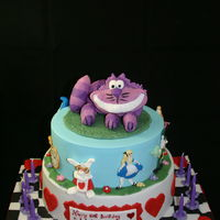 Alice In Wonderland Alice In Wonderland Cake, RKT (well Coco Pops actually!!!) Cheshire Cat,
