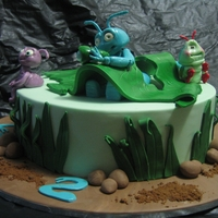A Bug's Life My design for a 'Bug's Life cake'