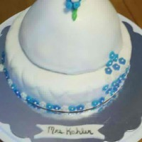 Wedding Gown Wedding gown cake with every cake, no RCT. This was my first gown cake. The brides colors are shades of blue.
