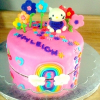 Hello Kitty 5Th Birthday Cake Fondant everything to make this cute girlie cake! :)