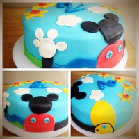 Mickey Mouse Clubhouse Cake Mickey Mouse Clubhouse fondant 12 in round cake.